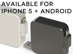 Spixi: TANGLE-FREE +SELF-WINDING cable for charging & syncing your iPhone and Android by Escargot, via Kickstarter.