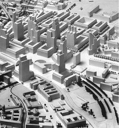 Конкурсный проект на концепцию градостроительного развития района Александрплац в Берлине. 1993-94. Авторы: Х. Кольхоф, Дж. Йохимсен, К. Фогель.