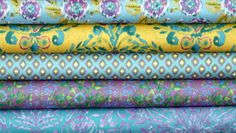 Fabric Bundle for quilt or craft Tangier Ikat by fivemonkeyfabrics, $23.75