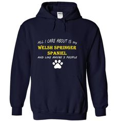 I Love All I Care About Is My Welsh Springer Spaniel And Like Maybe 3 People T shirts