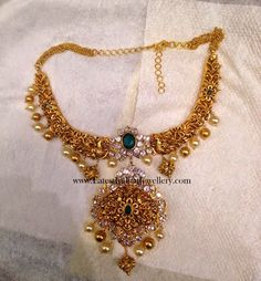 Pachi Work Hand Crafted Gold Necklace