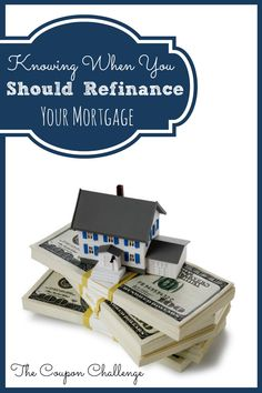 This week we are going to look at knowing when you should refinance. This is topic is usually looked at when you are working on your credit score, debt relief or simply trying to be more responsible with your money.