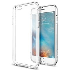 [Ultra Hybrid] AIR CUSHION [Crystal Clear] Clear back panel + TPU bumper for iPhone 6 (2014) / 6s (2015) - Crystal Clear (SGP11598) #iphone6s #apple #tech #case #review