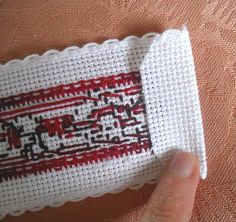 Sew in Love: Finishing up a cross stitch bookmark