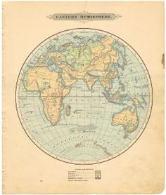 Knick of Time: Antique Graphics Wednesday - Maps of the World & ALL 50 States! Globe Vintage, Vintage Maps, Vintage Ephemera, Vintage Style, Antique World Map, Antique Maps, Antique Prints, Tour Du Canada, Poster Prints