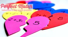 These perfect match math puzzles will have kids falling in love with math. They're easy to create!