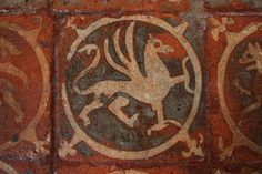 Floor Tiles at Winchester Cathedral 1 (Copyright Dave Halley 2011), via Flickr.