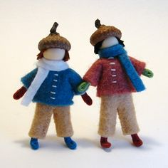 2 boys made with pipe cleaners