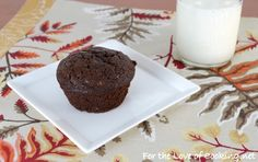 Double Chocolate Zucchini Muffins - For the love of cooking