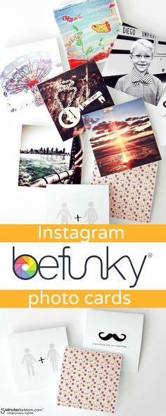 Create custom photo cards from Instagram photos using BeFunky photo editing