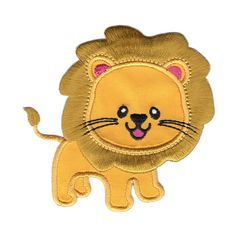 Lion IronOn Applique Patch  Kids / Baby by PatchMommy on Etsy, $5.49