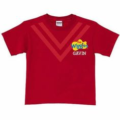 Personalized The Wiggles Uniform Toddler T-Shirt, Red, Toddler Unisex, Size: 3 Years