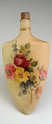 1890 Royal Worcester Blush Ivory Scent Bottle