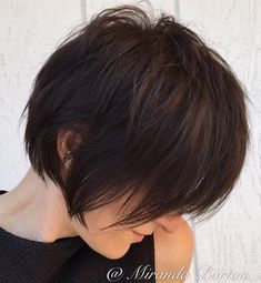 Long Feathered Espresso Brown Pixie