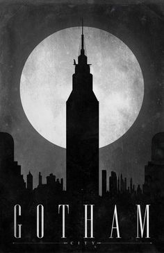"""Gotham City """"travel"""" poster! A new set of travel posters that concentrate on different comic book locations."""