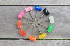 Gummy Bear Hair Bobby Pins - Adorable, Vibrant and perfect for Summer