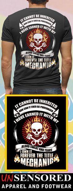 Forever Mechanic - Grab our brand new Shirts! Not Sold In Stores. Only  available f9eb659f1