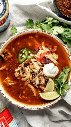 Instant Pot Dinner Recipes, Vegetarian Recipes Dinner, Easy Dinner Recipes, Mexican Food Recipes, Baked Bean Recipes, Healthy Soup Recipes, Gnocchi, Healthy Chicken Tortilla Soup, Mexican Tortilla Soup