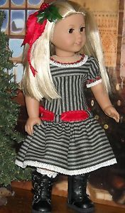 Contemporary Holiday Dress Made by KMK fits Popular 18 Inch American Dolls