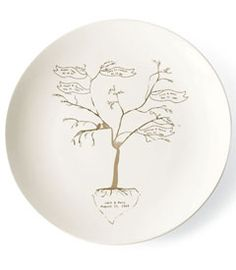 I love the idea of a family tree...not sure about the plate