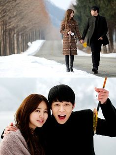 Photos of Yoochun and Yoon Eun Hye on a date for 'I Miss You' ☔