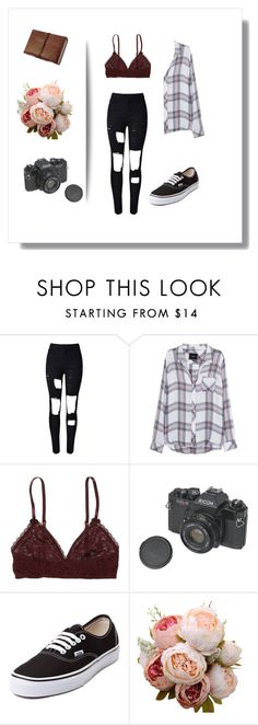 """""""Untitled #46"""" by queen-slayyyy ❤ liked on Polyvore featuring WithChic, Rails, Aerie and Vans"""