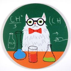 Chemistry Cat Mouse Pad