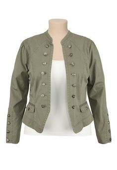 Button Front Military Jacket available at #Maurices