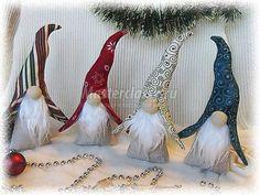 Гномики к Рождеству. Текстильные игрушки или декор к празднику. Мастер класс с пошаговыми фото