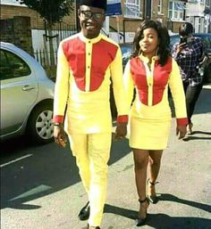 Couple wear/African style/Trendy african design by PageGermanyShop Couples African Outfits, African Dresses Men, African Clothing For Men, African Shirts, Couple Outfits, African Wear, African Attire, African Women, African Style