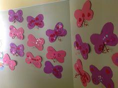 Preschool valentine butterfly's