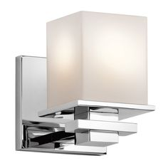 Kichler Lighting 1-Light Tully Chrome Bathroom Vanity Light