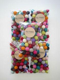 500 Felt Balls 2cm Multi-coloured Felted Balls