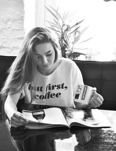 #coffe #t-shirt #magazin #girl #relax #coffeshop  t-shirt: www.magicboxclothes.pakamera.pl