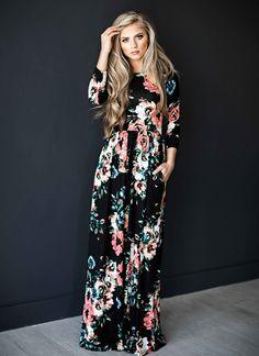 4000+Orders:Price$10.89 ELSVIOS 2017 Summer Boho Beach Dress Fashion Floral Printed Women Long Dress Three Quarter sleeve Loose Maxi Dress Vestidos