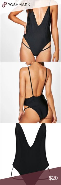 Bathing suit with leg strap Sexy minimalist swimsuit with leg strap. US size 0, new with tags. Perfect for Vegas  or Miami pool parties! Swim One Pieces