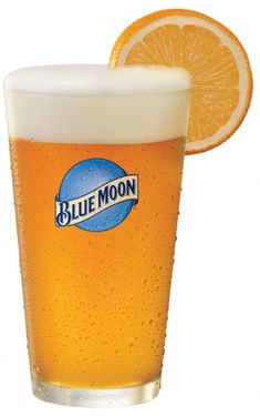 favorite beer...Blue Moon (draft, of course) and an orange slice!