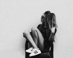 Immagine di girl, adidas, and black and white