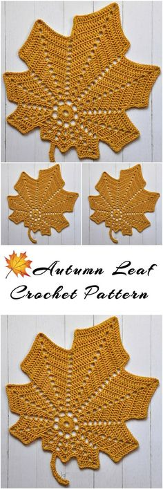 Crochet an autumn leaf