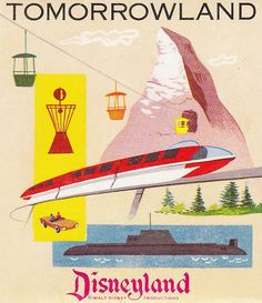 Disneyland Tomorrowland Postcard Folder 1950s by hmdavid, via Flickr