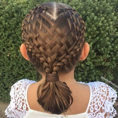 Amazing braids themed for Valentine's Day