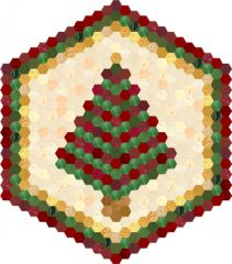 I am doing this English paper pieced project by adding 1 and only 1 hexagon a day. I expect to finish by Christmas, 2013!