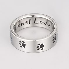 Paws Unconditional Love Ring