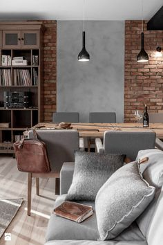 [New] The 72 Best Home Decor Ideas Today (with Pictures) - Small spaces can still be and stylish! Design your interior wisely and make sure to keep your room feeling warm and comfortable for you . Brick Interior, Interior Design Living Room, Living Room Designs, Home Living Room, Living Room Decor, Living Spaces, Concrete Interiors, Scandinavian Style Home, Loft Style