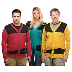 Star Trek TNG Unisex Cardigans--cannot decide if it is too overtly nerdy or if I actually want one of these