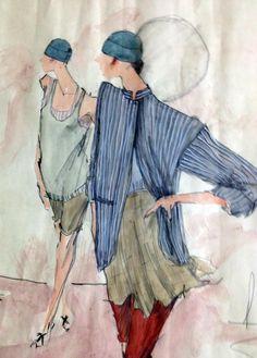 Vintage Perry Ellis ca. 1979 #fashion_illustration