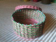 Cestería de papel nivel principiantes. DIY Paper baskets beginners level - YouTube