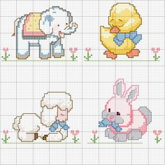 This Pin was discovered by Osc Cross Stitch For Kids, Cross Stitch Borders, Cross Stitch Baby, Cross Stitch Animals, Cross Stitch Charts, Cross Stitching, Cross Stitch Embroidery, Cross Stitch Patterns, Motifs Animal