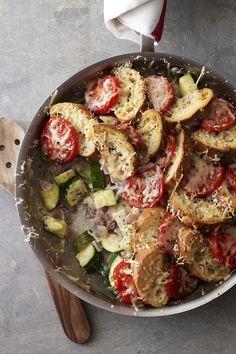 Zucchini-Tomato Strata Recipe!