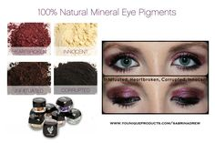 Younique's natural based mineral pigments create gorgeous, deep colors that bring out your eyes! The color lasts all day and night. Get you Moodstruck mineral pigments at www.youniqueproducts.com/SabrinaDrew